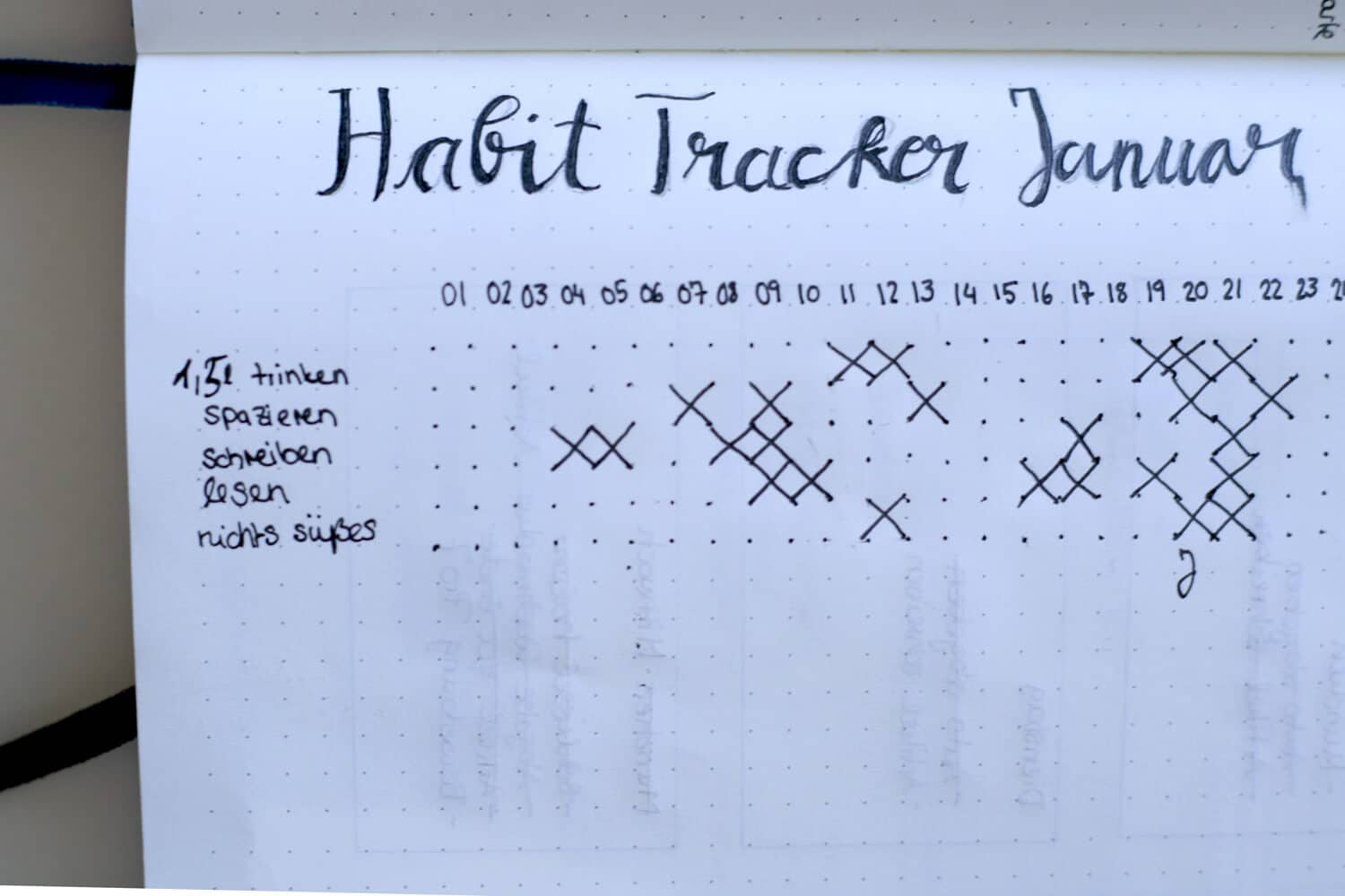 Der Habit Tracker im Bullet Journaling
